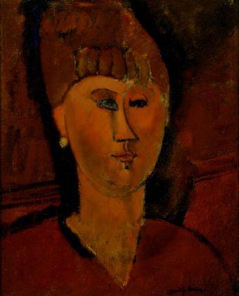 Amedeo Modigliani, La ragazza rossa (testa di donna dai capelli rossi), 1915. Torino, Galleria d'Arte Moderna