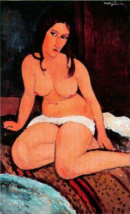 Amedeo Modigliani, Nudo accovacciato, 1917. Anversa, Koninklijk Museum voor Schone Kunsten