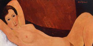 Amedeo Modigliani, Nudo sdraiato, il braccio destro ripiegato sotto la testa, 1918-19. Roma, Galleria Nazionale d'Arte Moderna