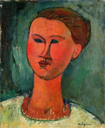 Amedeo Modigliani, Testa di donna, 1915. Milano, Pinacoteca di Brera