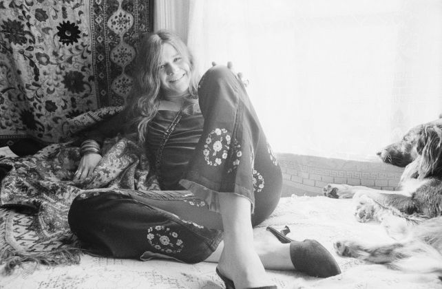 Baron Wolman, Janis Joplin, American singer and songwriter Janis Joplin (1943-1970) at her home in Haight-Ashbury, San Francisco, novembre 1967