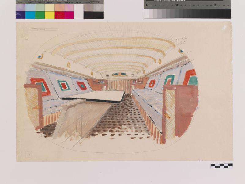 Carlo Scarpa, Arredi interni dello Yacht Asta, 1935 Archivio Carlo Scarpa, Collezione MAXXI Architettura courtesy Fondazione MAXXI, Roma