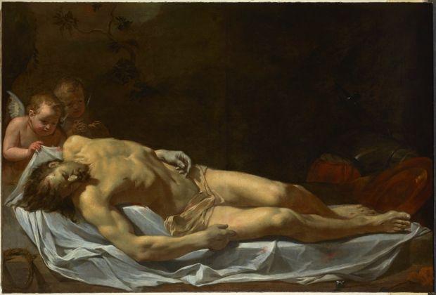 Charles Le Brun, Cristo morto compianto da due angeli, 1642-45, Palacio Real de Aranjuez, courtesy Patrimonio Nacional