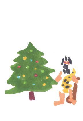 Charles Ray, 2016 Christmas card, 2016. © Charles Ray