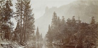 Eadweard Muybridge, Loya Valley of the Yosemite (The Sentinel), c. 1867 – c. 1872. Rijksmuseum. Public Domain