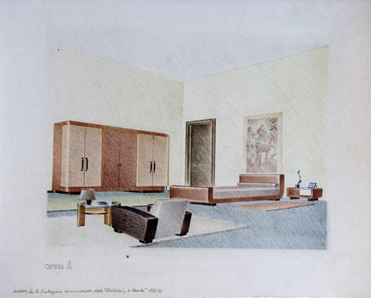 Enrico del Debbio, Arredi per Molteni, 1935 Archivio Enrico del Debbio, Collezione MAXXI Architettura, courtesy Fondazione MAXXI, Roma