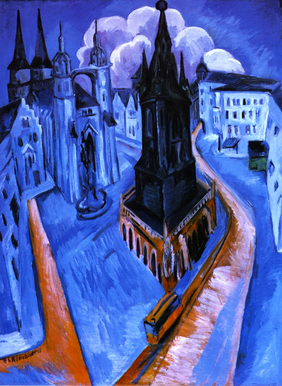 Ernst Ludwig Kirchner, Der rote Turm in Halle, 1915. Museum Folkwang, Essen