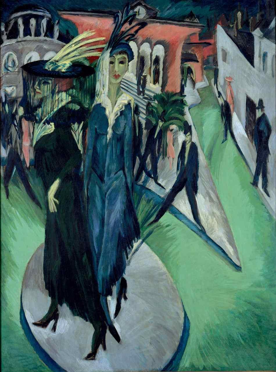 Ernst Ludwig Kirchner, Potsdamer Platz, 1914. Neue Nationalgalerie, Berlino