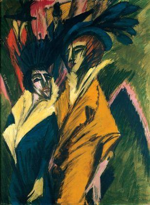 Ernst Ludwig Kirchner, Zwei Frauen auf der Straße, 1913. Kunstsammlung Nordrhein-Westfahler, Düsseldorf