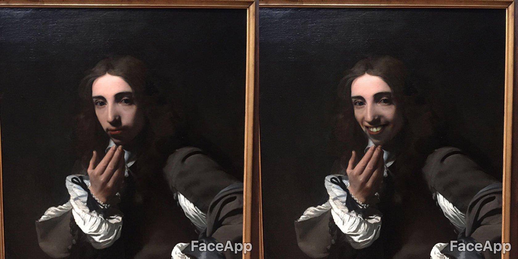 FaceApp mette il sorriso alle opere d'arte