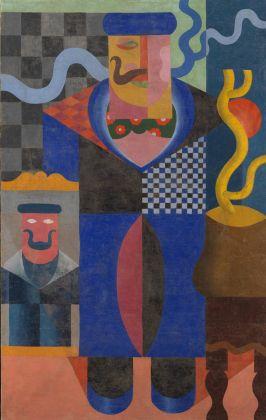 Fortunato Depero, Architettura sintetica di un uomo (Uomo con i baffi), 1916-1917, Rovereto, Mart, collezione privata
