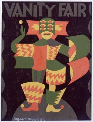 """Fortunato Depero, Bozzetto per copertina di """"Vanity Fair"""", 1930, Rovereto, Mart, deposito a lungo termine"""