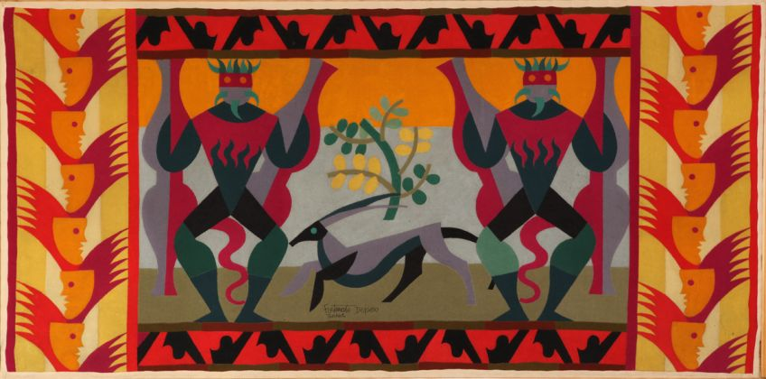 Fortunato Depero, Guerrieri, 1923, collezione privata