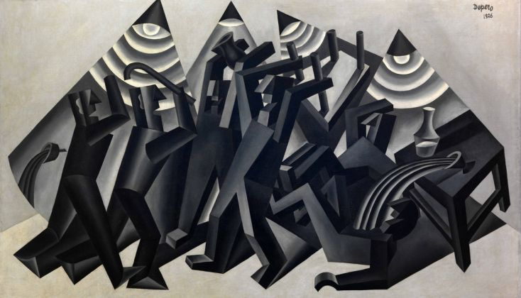 Fortunato Depero, La rissa, 1926, Rovereto, Mart, Fondo Depero