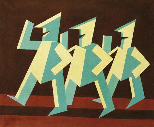 Fortunato Depero, Pagliaccetti, 1927, olio su tela, 70x83,5 cm