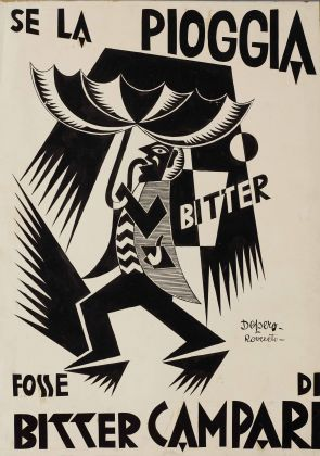 Fortunato Depero, Se la pioggia fosse Bitter Campari, 1926-1927, Rovereto, Mart, Fondo Depero
