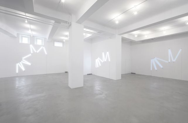 François Morellet. Mappe visive. Installation view at A Arte Invernizzi, Milano 2017
