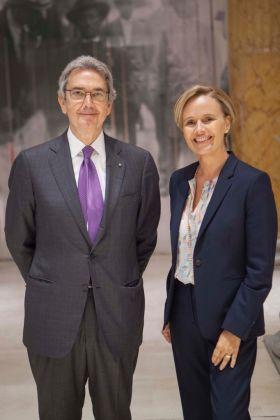 Franco Bernabè con Ilaria Della Torre, direttore generale della Quadriennale