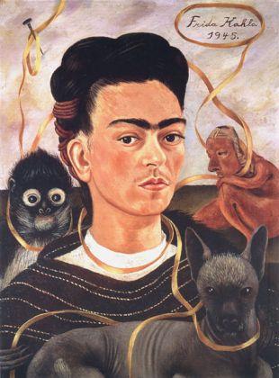 Frida Kahlo, Autorretrato con changuito, 1945 - Nr archiv. 1 ©Archivio Museo Dolores OlmedoFoto Erik Meza - Xavier