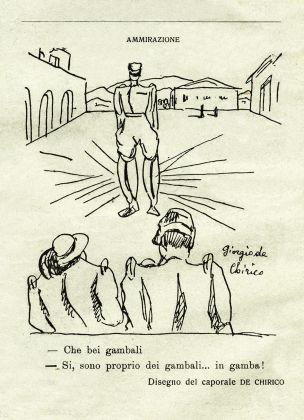 """Giorgio de Chirico, Che bei gambali, """"La Ghirba"""" n. 3, 21 aprile 1918"""