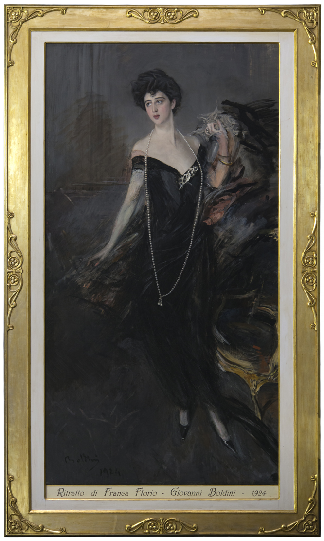 Giovanni Boldini (1842-1931), Ritratto di Donna Franca Florio, 1901-1924, olio su tela, cm 221 x 119,4, firmato e datato in b. a s. Boldini 1924