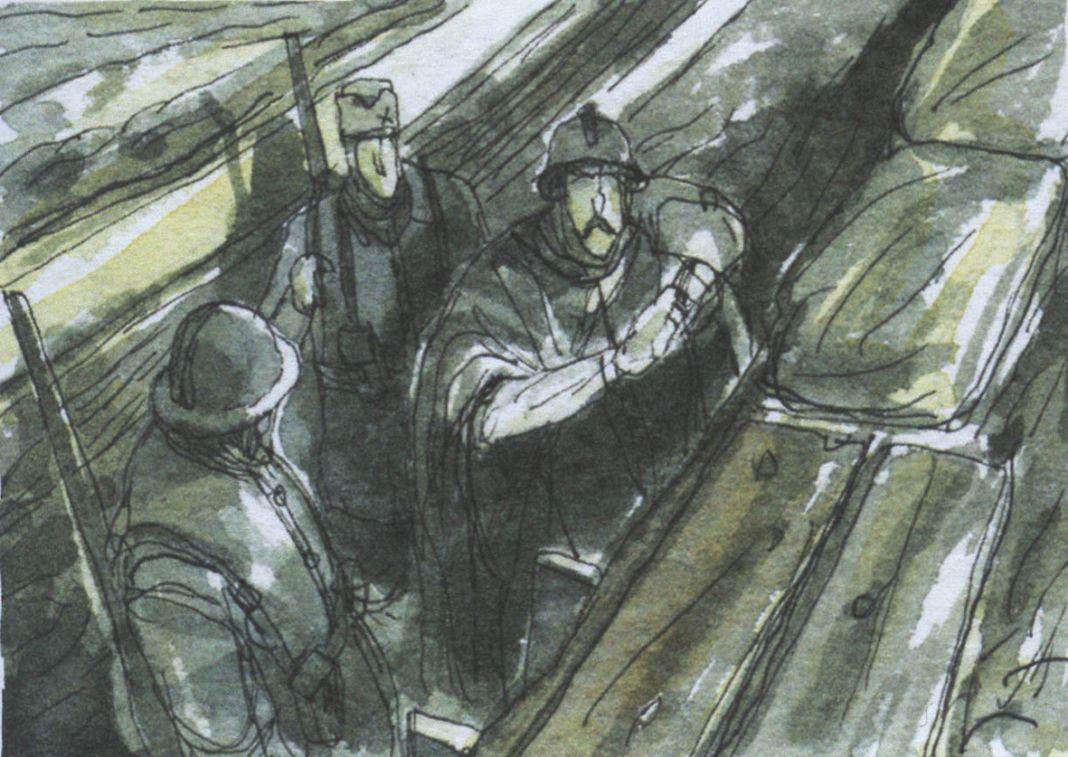 Gipi, Una storia, 2013, acquerello su carta, particolare (Coconino Press-Fandango 2013)