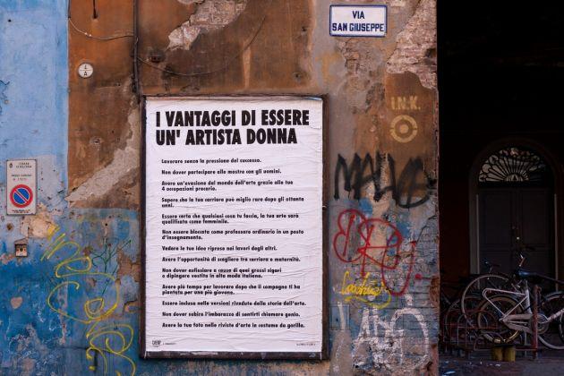 Guerrilla Girls, Cheap Street Poster Art Festival 2017, Bologna, photo by Stefano Scheda