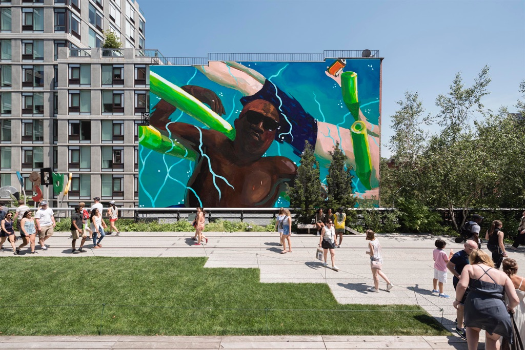 Henry Taylor, The Floaters. Courtesy High Line Art