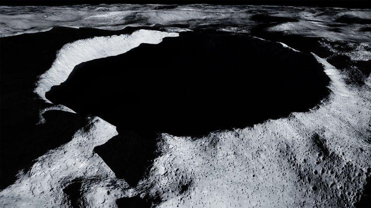 Il cratere lunare Shackleton