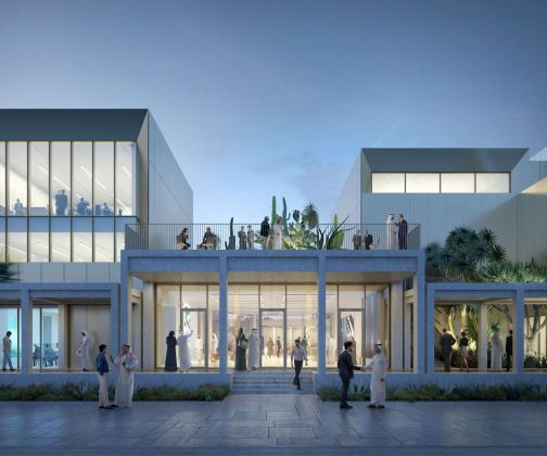 Jameel Arts Centre, Dubai. Rendering dell'ingresso