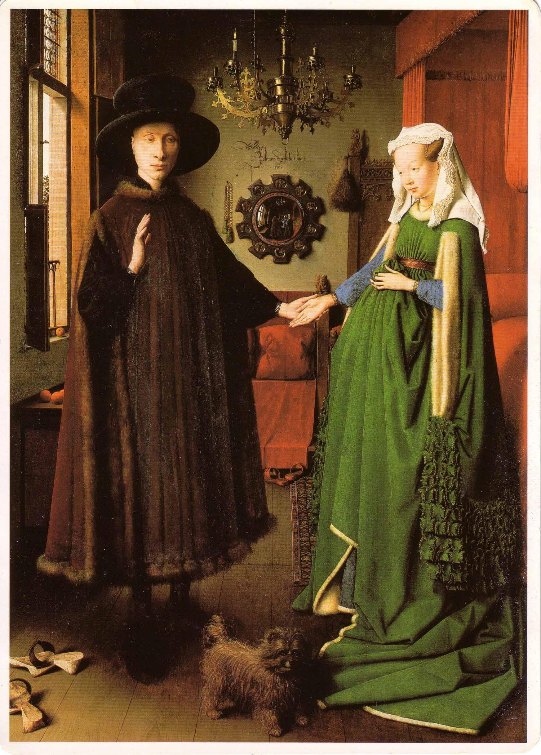 Jan van Eyck, Ritratto dei coniugi Arnolfini, 1434. National Gallery, Londra