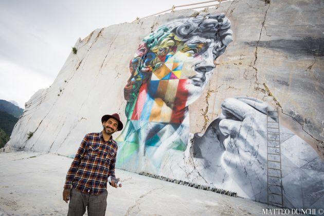 Kobra, David, 2017, il murale realizzato in una cava di marmo della Alpi Apuane, ph. Matteo Dunchi