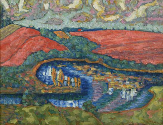Konrad Mägi, Landscape with Pink Fields, 1915