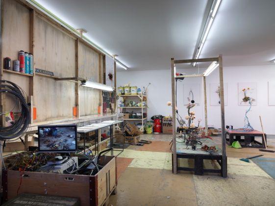 Krištof Kintera, Laboratorio dell'artista, 2017. Exhibition view at Collezione Maramotti, Reggio Emilia 2017. Photo Dario Lasagni