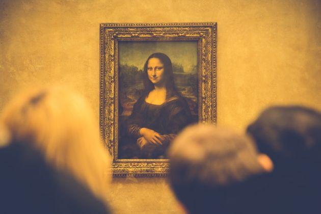 La Gioconda al Musée du Louvre, Parigi