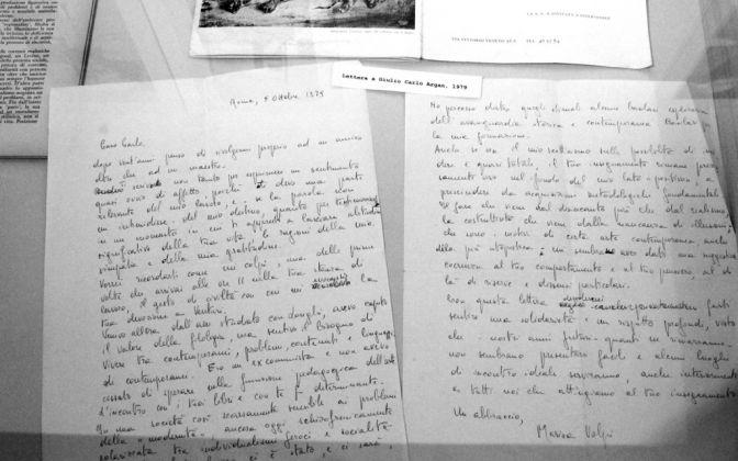 Lettera di Marisa Volpi a Giulio Carlo Argan, 1979. Photo Carlotta Barillà