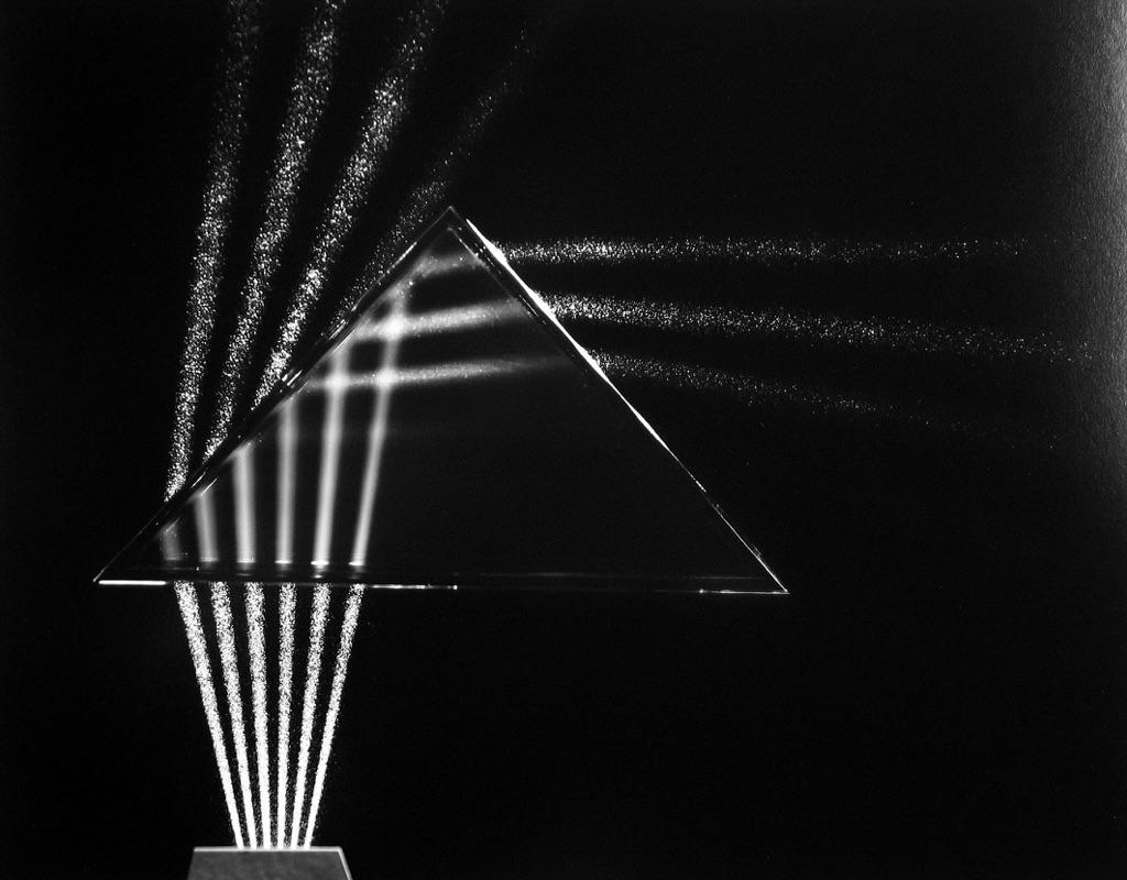 Light Trough Prism, Cambridge, Massachussets, 1958-61 © Berenice Abbott