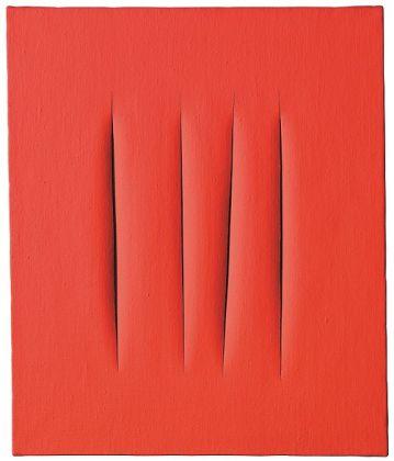 Lucio Fontana, Concetto spaziale. Attese, 1966 @ Christie's (€1,578,670)