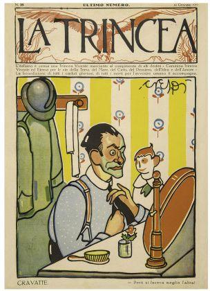 "Luigi Daniele Crespi, Cravatte, copertina de ""La Trincea"" n. 35, 16 gennaio 1919"