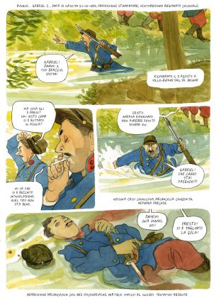 Manuele Fior, I giorni della merla, 2015, acquerello su carta (Coconino Press-Fandango 2016)