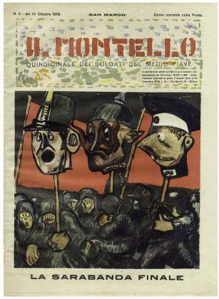 """Mario Sironi, La sarabanda finale, copertina de """"Il Montello"""" n. 3, 15 ottobre 1918"""