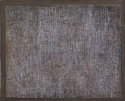 Mark Tobey, Lines of the City, 1945. Addison Gallery of American Art, Phillips Academy, Andover (MA). © 2017 Mark Tobey _ Seattle Art Museum, Artists Rights Society (ARS), New York
