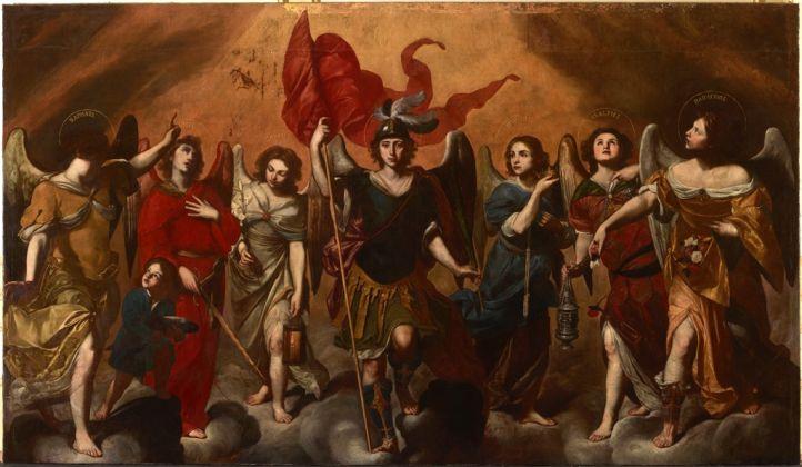 Massimo Stanzione, I Sette Arcangeli, 1620-30, Monasterio De Las Descalzas Reales, Madrid, courtesy Patrimonio Nacional