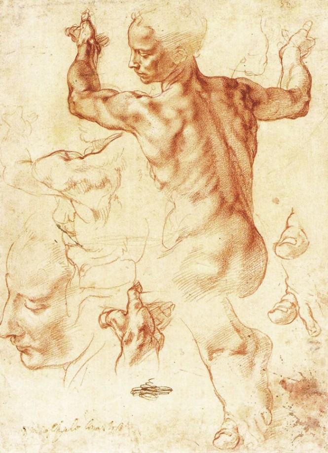 Michelangelo, Studio per la Sibilla Libica, 1511-1512, Metropolitan Museum of Art, New York