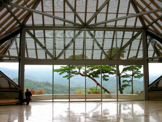 Miho Museum entrance hall, by john weiss via Flickr