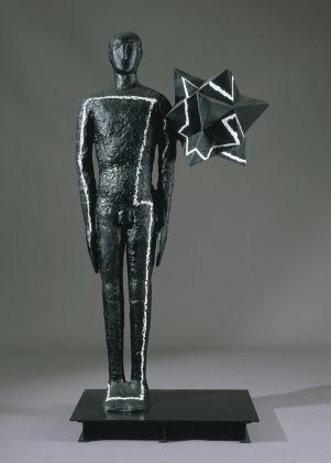 Mimmo Paladino Senza titolo, 2005, alluminio e ferro dipinto, cm 202 x 98 x 65