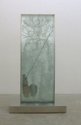 Mimmo Paladino Senza titolo, 2015, vetro serigrafato e acciaio, cm 200 x 122