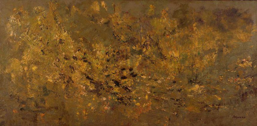 Salvatore Nocera, Senza Titolo, olio su tela, 200x100 cm (s.d. / 1975 ca.)