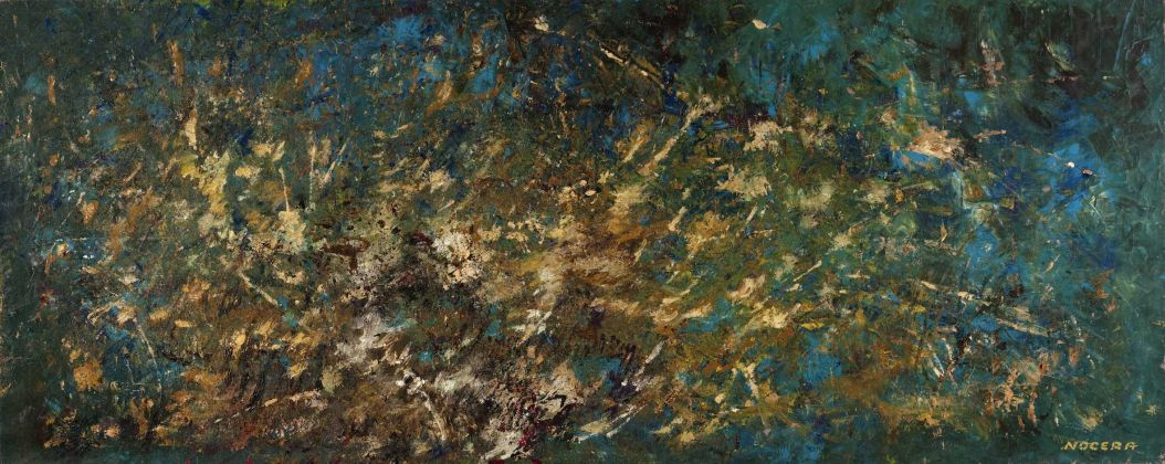 Salvatore Nocera, Senza Titolo, olio su tela, 235x95 cm (s.d. / 1975 ca.)