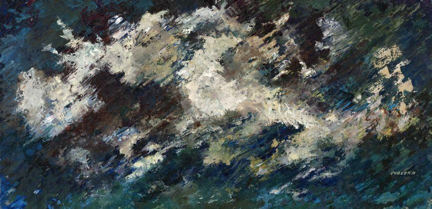 Salvatore Nocera, Senza Titolo, olio su tela, 140x70 cm (s.d. / 1975 ca.)